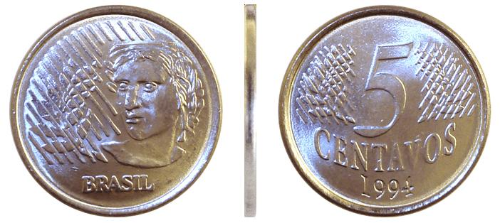 Moeda do Real: 5 Centavos de 1994