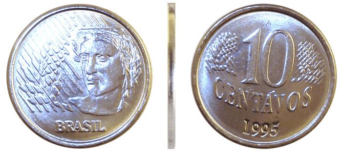 Moeda do Real: 10 centavos de 1995