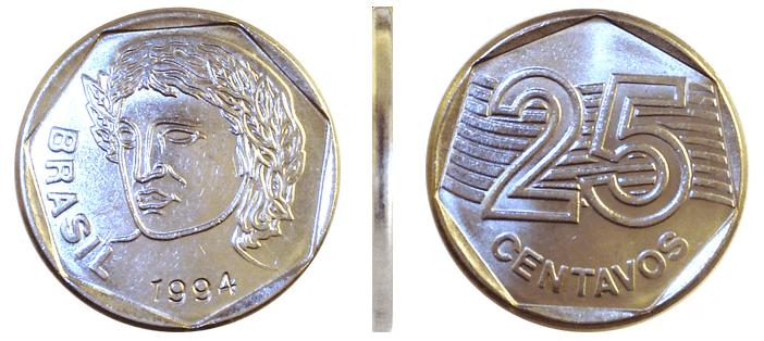 Moeda do Real: 25 centavos de 1994