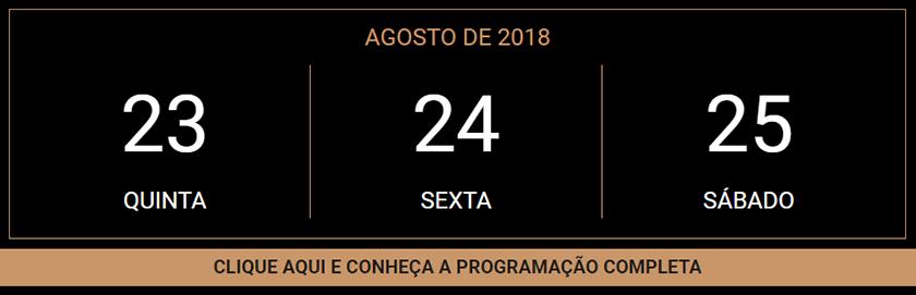 Datas do evento da Casa da Moeda Colecionismo em movimento 2018