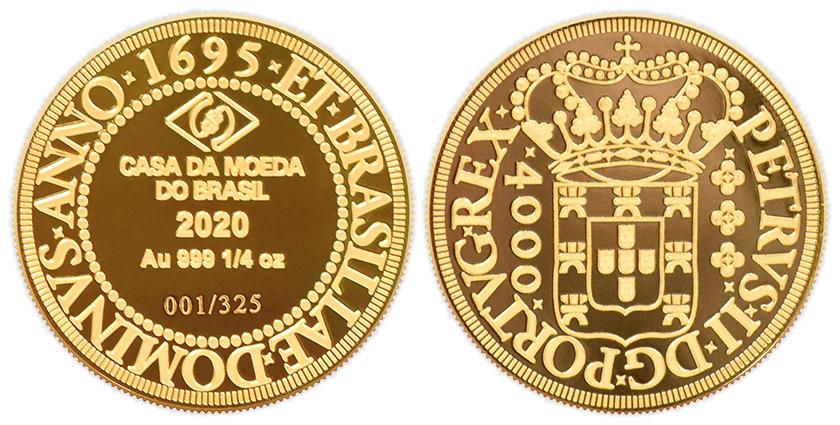 Medalha 4000 réis da Casa da Moeda do Brasil