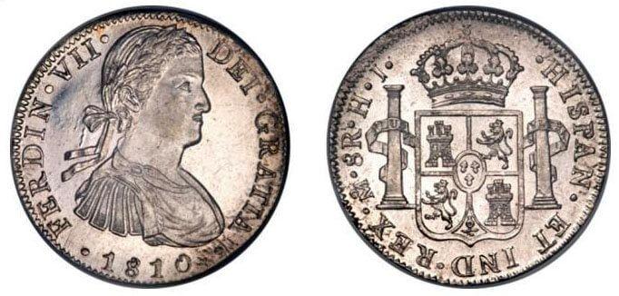 8 reales de 1810 Ferdin VII
