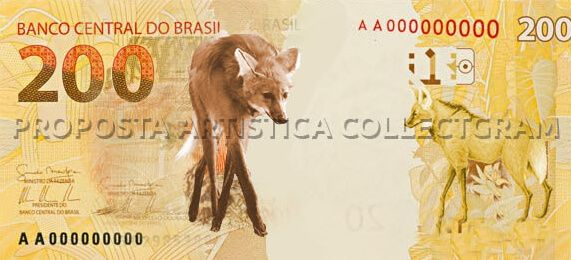 Cédula de 200 reais será lançada pelo Banco Central: nota lobo-guará