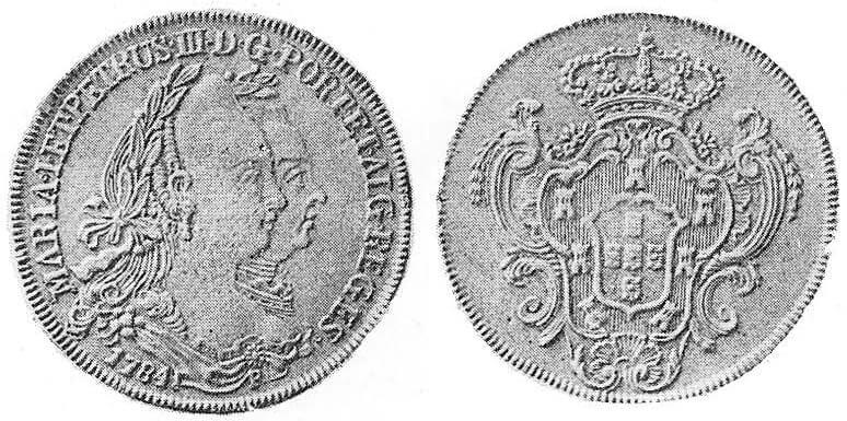 6400 réis de 1784 de D. Maria I e D. Pedro III