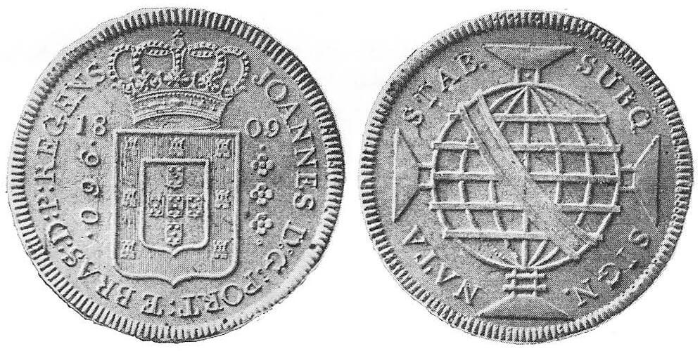 Moeda de 960 réis de 1809