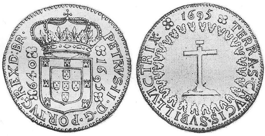 Ensaio monetário de 640 réis de 1695 calvário: a primeira moeda portuguesa para o Brasil