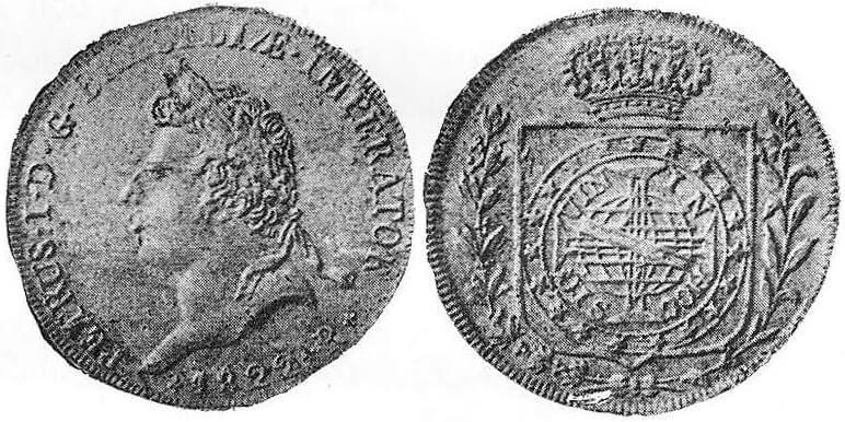 6400 réis de 1822-R - A peça da Coroação de D. Pedro I, primeira moeda do Brasil independente