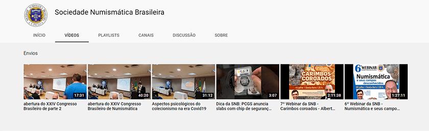 Canal da Sociedade Numismática Brasileira